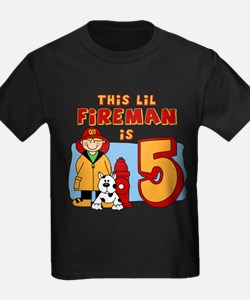 Fireman 5th Birthday T