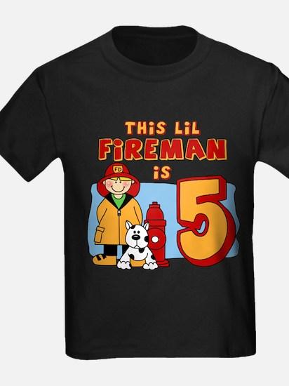 Fireman 5th Birthday T