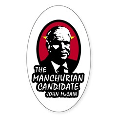 Manchurian McCain Oval Decal