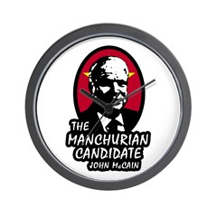 Manchurian McCain Wall Clock