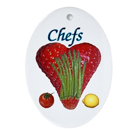 Chef Gifts Oval Ornament