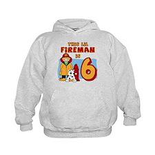 Fireman 6th Birthday Hoodie