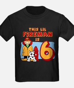 Fireman 6th Birthday T
