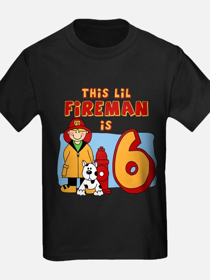 Fireman 6th Birthday T