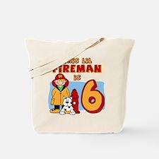 Fireman 6th Birthday Tote Bag