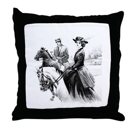 Sidesaddle Pasttime Throw Pillow