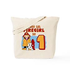 Firegirl First Birthday Tote Bag