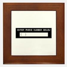 Enter Your Phone Number Framed Tile
