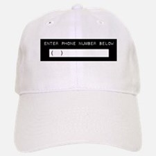 Enter Your Phone Number Baseball Baseball Cap