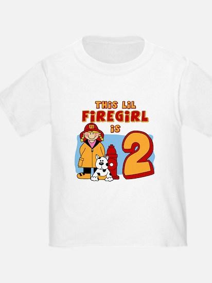 Firegirl 2nd Birthday T