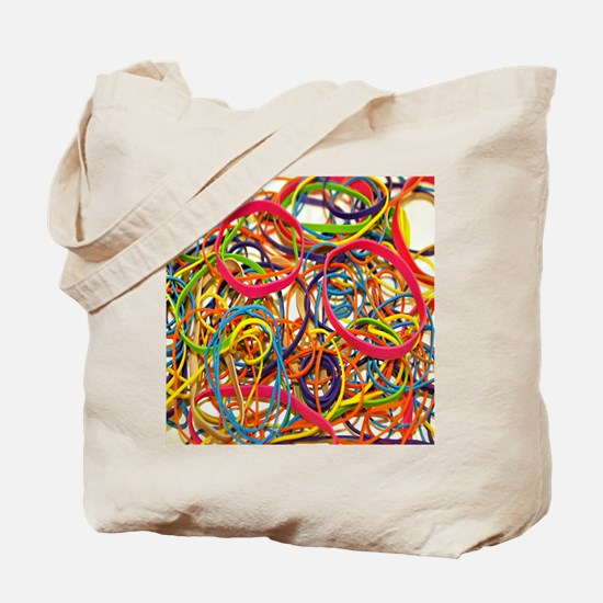Rainbow Rubberband Tote Bag
