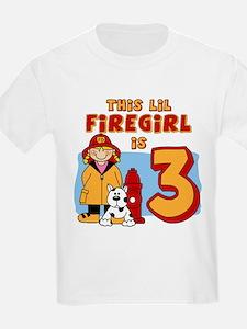 Firegirl 3rd Birthday T-Shirt