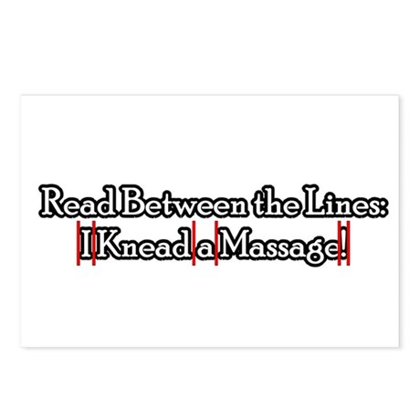 I Knead a Massage Postcards (Package of 8)