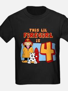 Firegirl 4th Birthday T