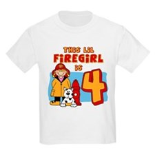 Firegirl 4th Birthday T-Shirt