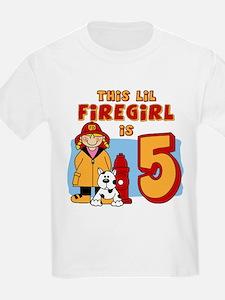 Firegirl 5th Birthday T-Shirt