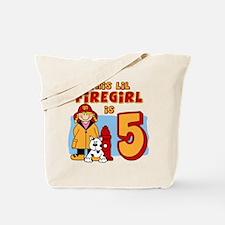 Firegirl 5th Birthday Tote Bag