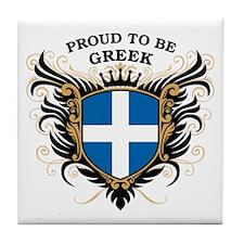 Proud to be Greek Tile Coaster