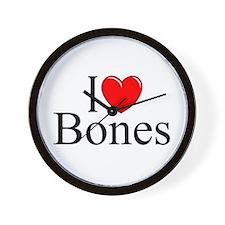 """""""I Love Bones"""" Wall Clock"""