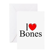 """I Love Bones"" Greeting Cards (Pk of 10)"