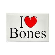 """I Love Bones"" Rectangle Magnet"