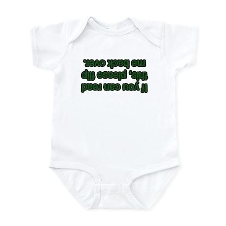 Flip Me Back Over! Infant Bodysuit