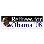 Retirees for Obama '08 bumper sticker