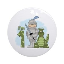 Dragon Knight First Birthday Ornament (Round)