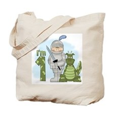 Dragon Knight First Birthday Tote Bag