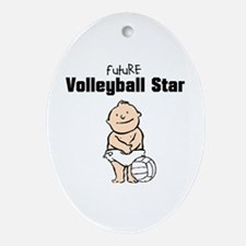 Future Volleyball Star (Boy) Oval Ornament