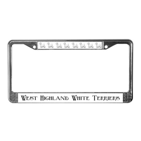 Westhighland White Terriers License Plate Frame