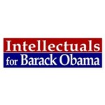 Intellectuals for Barack Obama car decal