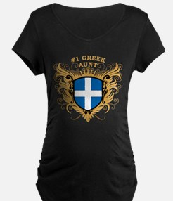 Number One Greek Aunt T-Shirt