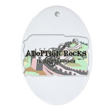 Adoption Rocks Oval Ornament
