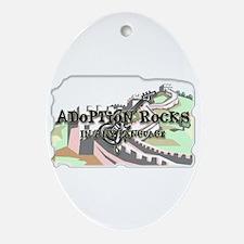 Adoption Rocks Oval Ornament