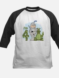 Dragon Knight 4th Birthday Kids Baseball Jersey
