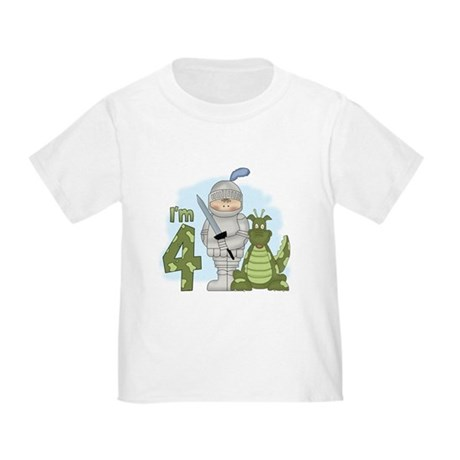Dragon Knight 4th Birthday Toddler T-Shirt