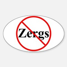 No Zergs Oval Decal