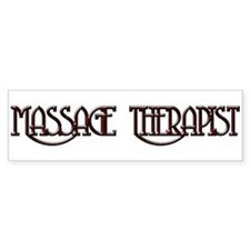 Massage Therapy 3 Bumper Bumper Sticker