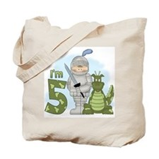 Dragon Knight 5th Birthday Tote Bag