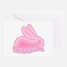 Bun In The Oven Pink II Greeting Card