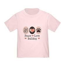 Peace Love Bulldog T