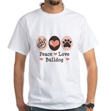 Peace Love Bulldog Shirt