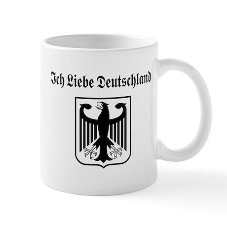 ich liebe deutschland mug by totaletees. Black Bedroom Furniture Sets. Home Design Ideas