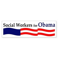 Social Workers for Obama bumpersticker