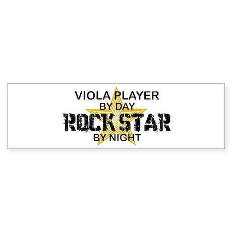 Viola Player Rock Star Bumper Sticker