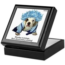 Monday Morning Bulldog Keepsake Box