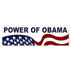 Power of Obama bumper sticker