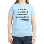 Benjamin Franklin 17 Women's Light T-Shirt