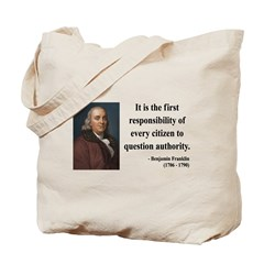 Benjamin Franklin 17 Tote Bag